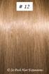 European Hair Extensions - #12B Warm Light Brown