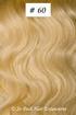 European Hair Extensions - #60B White Blonde