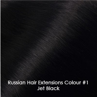 Russian Hair Extensions - #1 Jet Black