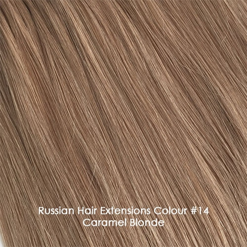 Premium Russian Hair Extensions - Caramel Blond #14