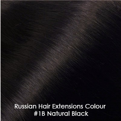 Russian Hair Extensions - #1B Natural Black