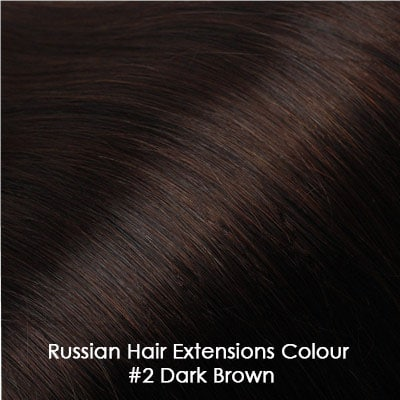Russian Hair Extensions - #2 Dark Brown