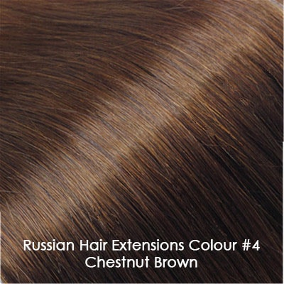 Russian Hair Extensions - #4 Chestnut Brown