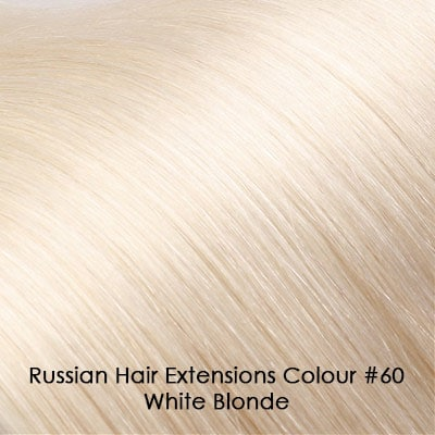 Russian Hair Extensions - #60 White Blonde