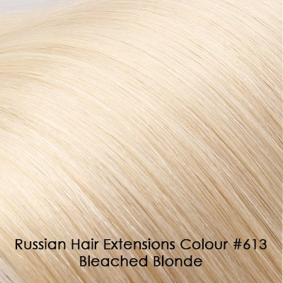 Russian Hair Extensions - #613 Bleached Blonde