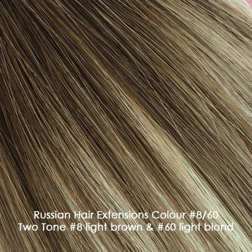 Russian Hair Extensions - Two Tone #8/60