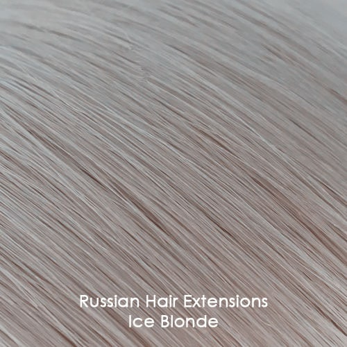 Russian Hair Examples - Ice Blonde