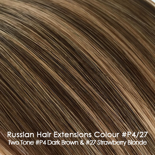 Russian Hair Extensions - #P4/27 Two Tone