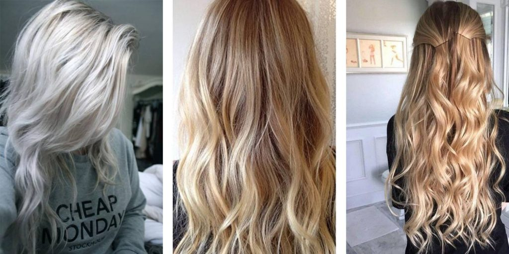 Beige Blonde Hair Extension Colours