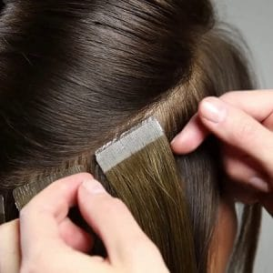 tape extensions move up by so posh hair technician